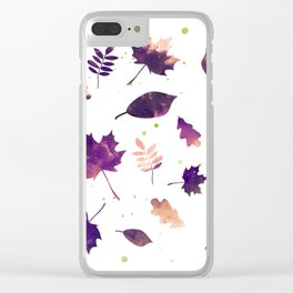 SUNSET LEAF PATTERN Clear iPhone Case