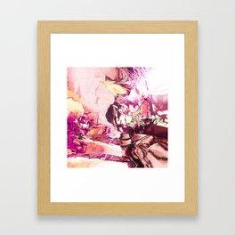 Pink planet sunrise Framed Art Print