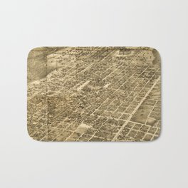 Vintage Pictorial Map of Austin Texas (1890) Bath Mat