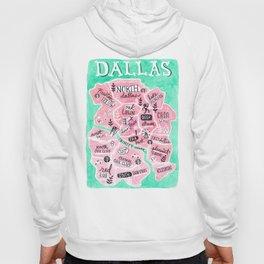 Dallas City Map Hoody