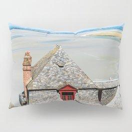 Mont Saint-Michel at low tide Pillow Sham
