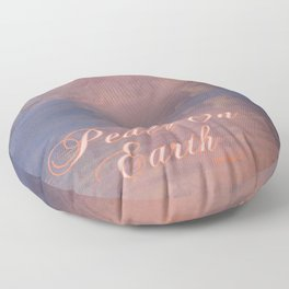 """Peace On Earth Reflection"" Floor Pillow"
