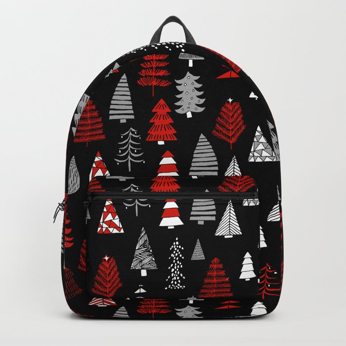 Christmas tree forest minimal scandi patterned holiday forest winter Backpack