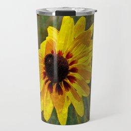 Black Eyed Susan - Photo turned Digital Paint Travel Mug