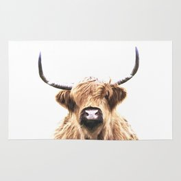Highland Cow Portrait Rug