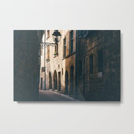 Old World Streets of Sarlat Metal Print