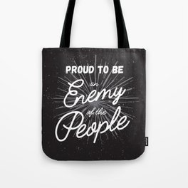 Enemy of the People Protest Art Tote Bag