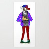 sneaker Art Prints featuring Sneaker Lemur by Dyna Moe