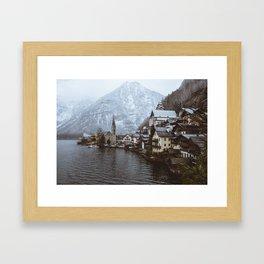 Winter in Hallstatt Framed Art Print