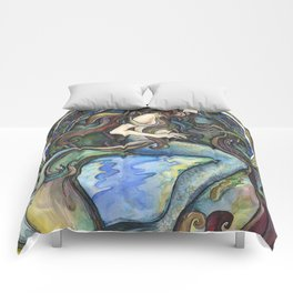 """Under the Sea - A Mermaid"", by Fanitsa Petrou Comforters"