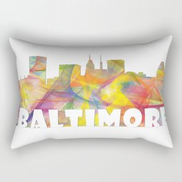 Baltimore, Maryland Skyline MCLR 2 Rectangular Pillow