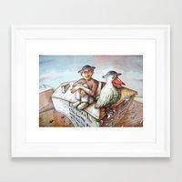 jewish Framed Art Prints featuring Jewish Bird by Michael Zobak