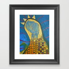 Corn Maiden Portrait Framed Art Print