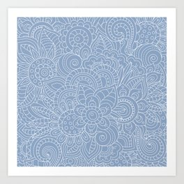 Background abstract flowers, doodleart, graphic-desing vector pattern. Art Print