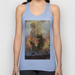 The fire demon of the rainforests Unisex Tank Top