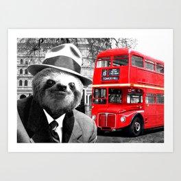 Sloth in London Art Print