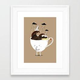 Brainstorming Coffee Framed Art Print