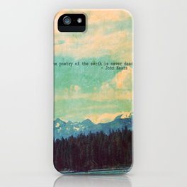 The Poetry of the Earth iPhone Case