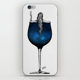 Wine night. iPhone Skin