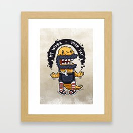 Unqualified Guest Worker is Looking for Job Framed Art Print