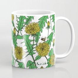 Bright feeling ~pattern of dandelion and bee~ Coffee Mug