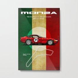 Monza 365 GTB4 Vintage Metal Print