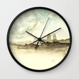 "Eugène Delacroix ""The Roofs of Paris"" Wall Clock"