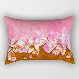 Pink and Rust Rectangular Pillow