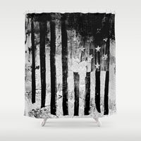flag Shower Curtains featuring US Flag by Ricca Design Co.