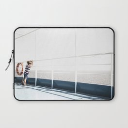 Child staring at the sea Laptop Sleeve