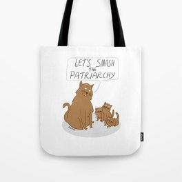 Let's Smash The Patriarchy Kittens Tote Bag
