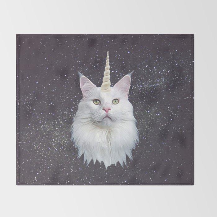 Unicorn Cat Throw Blanket By Ohmonday Society6