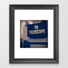 To The Telescope Framed Art Print