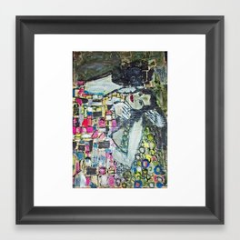 THE KISS FOR ADRIANA Framed Art Print