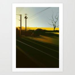 TrainBlur3 Art Print
