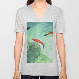 Fish watercolor III Unisex V-Neck
