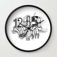 numbers Wall Clocks featuring Numbers by Ilya kutoboy