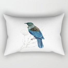 Tui, New Zealand native bird Rectangular Pillow
