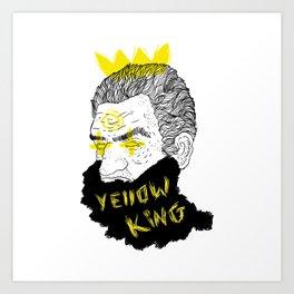 Yellow King Art Print