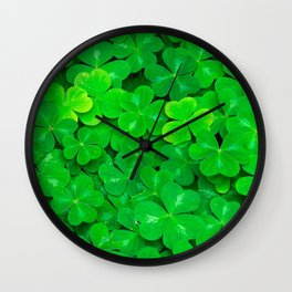 Clovers Wall Clock