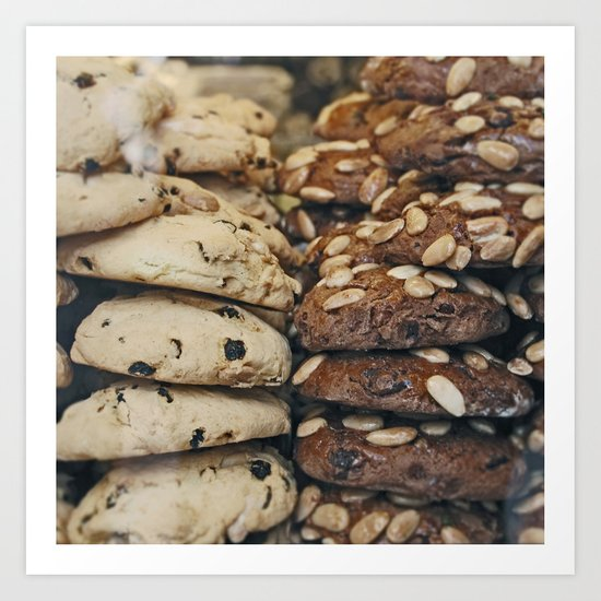 Almond Cookies - Food Kitchen Photography Art Print