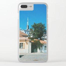 Old town Tallinn II Clear iPhone Case