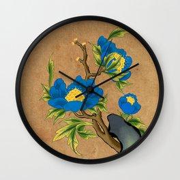 Minhwa: Peony on the Rock D Type Wall Clock