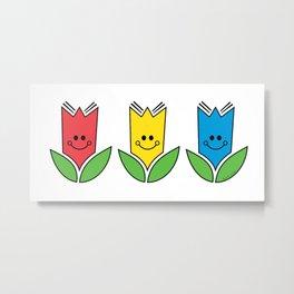 Flowers Of Primary Colors - Fleurs Aux Couleurs Primaires Metal Print
