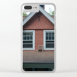 Chair on the roof Clear iPhone Case