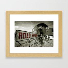 Road Repairs  Framed Art Print