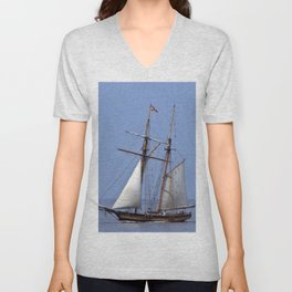 Tall ship Sailing the mighty Saint-Lawrence Unisex V-Neck