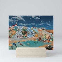 Salvation Mountain-Cross Mini Art Print