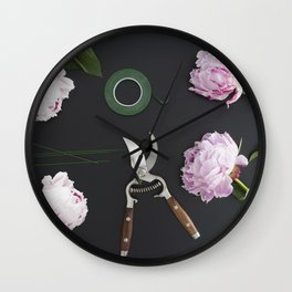 Florist workplace and accessories Wall Clock