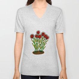 Edna Flower Unisex V-Neck